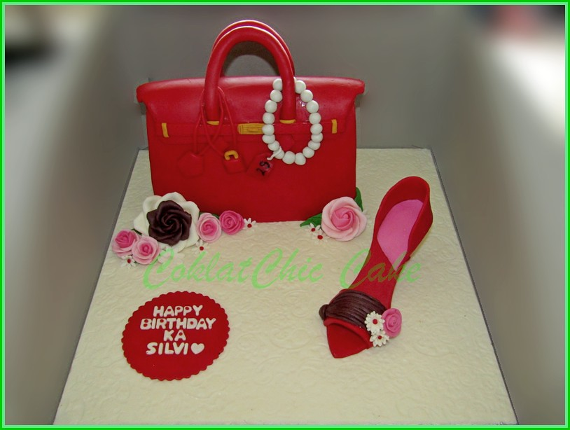 Cake branded bag and shoe SILVI 20 cm