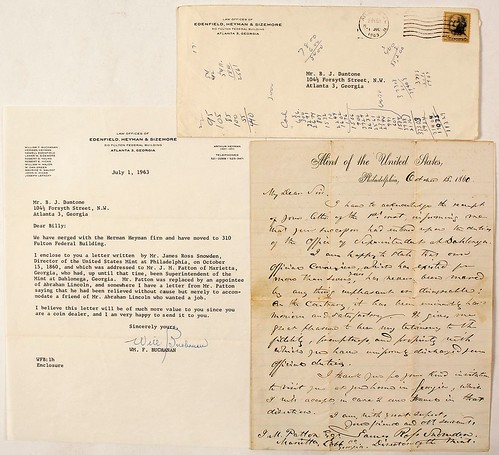 Letter By Snowden to J. M. Patton