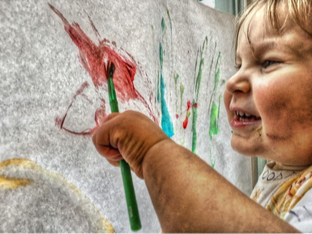 HDR grandson: paint up