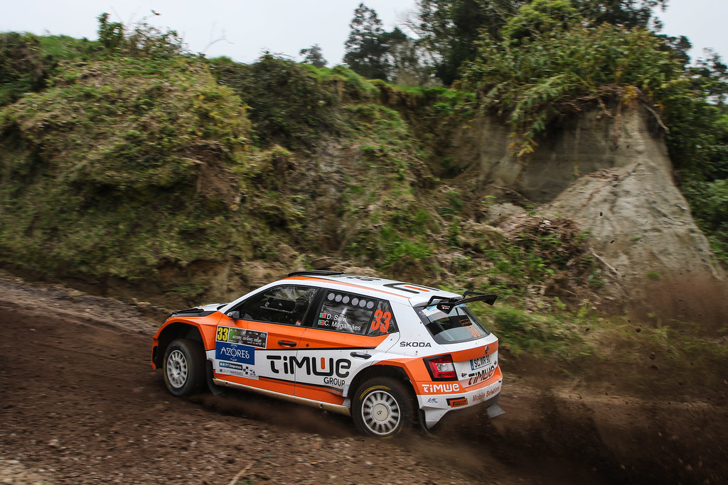 33 SALVI DIOGO( prt ), MAGALHAES Carlos (prt), SKODA FABIA R5, action during the 2018 European Rally Championship ERC Azores rally,  from March 22 to 24, at Ponta Delgada Portugal - Photo Jorge Cunha / DPPI