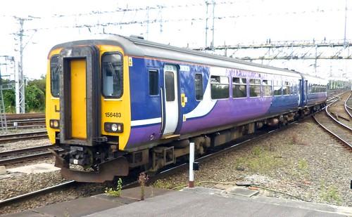 Class 156 'Northern Rail' No.156483. Metro-Cammell Sprinter DMU on Dennis Basford's railsroadsrunways.blogspot.co.uk'