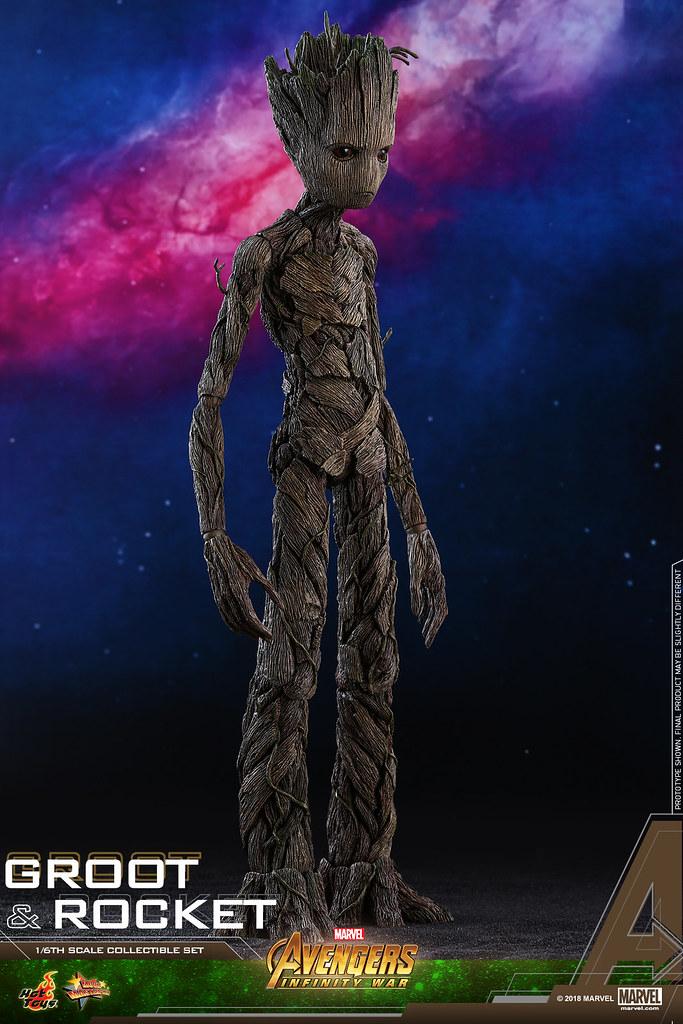 Hot Toys – MMS476 – 《復仇者聯盟:無限之戰》 1/6 比例 格魯特 & 火箭 套裝組 Avengers: Infinity War Groot & Rocket Collectible Set