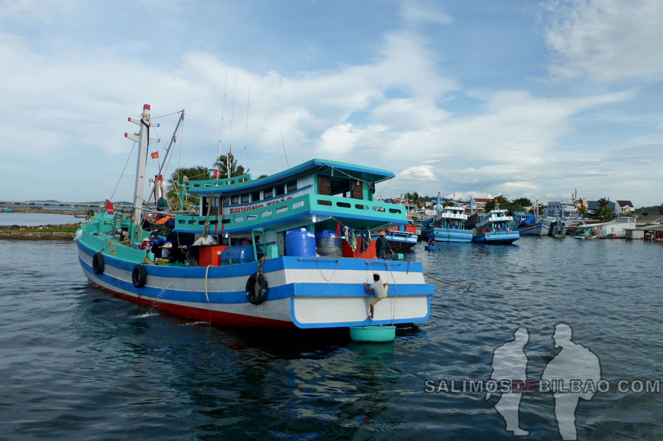 0070. Excursión al norte, Puerto de Duong Dong, Phu Quoc