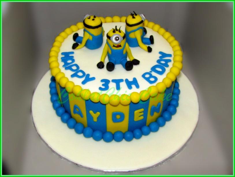 Cake Minions AYDEN 15 cm