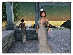 GLITTER DRESS, POSES & ALMA MACKEUP MARIA LIPS
