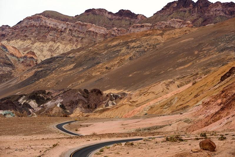 Artists Palette drive Death Valley