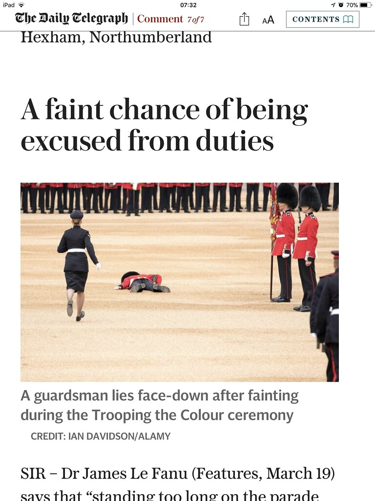 Photo in The Telegraph today