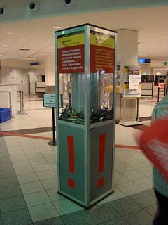 Конфискованные предметы в аэропорту