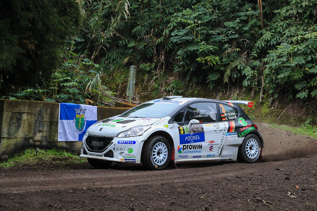 03 GRIEBEL Marijan (deu), KOPCZYK Stefan (deu), PEUGEOT 208 T16, action during the 2018 European Rally Championship ERC Azores rally,  from March 22 to 24, at Ponta Delgada Portugal - Photo Jorge Cunha / DPPI
