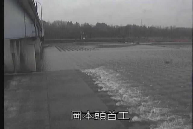 鬼怒川岡本頭首工ライブカメラ画像. 2018/03/08 10:17