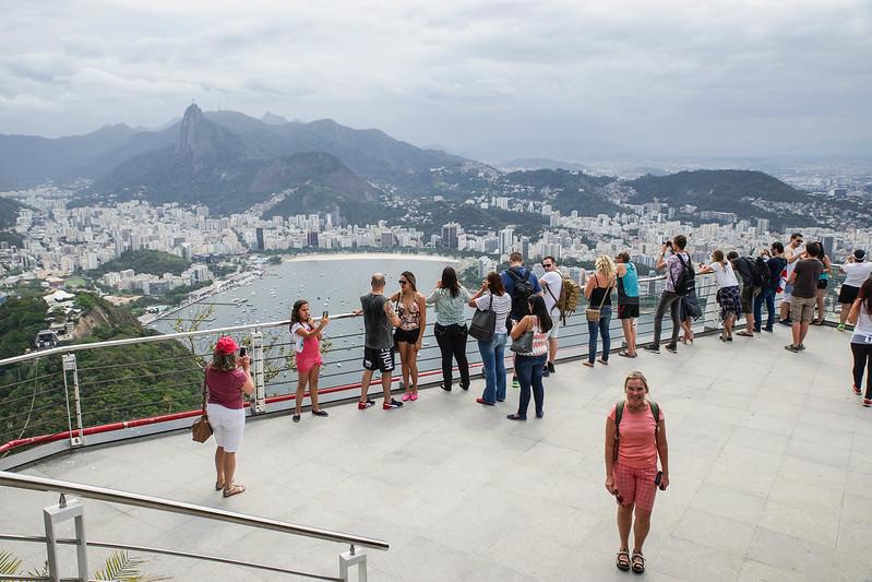 The viewing platform  Rio de Janeiro Brazil Brasilia Sugarloaf Sokeritoppa