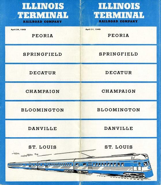Illinois Terminal Railroad 1949 Schedules [FRONT]