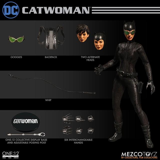MEZCO ONE:12 COLLECTIVE 系列 DC Comics【貓女】 1/12 比例人偶作品