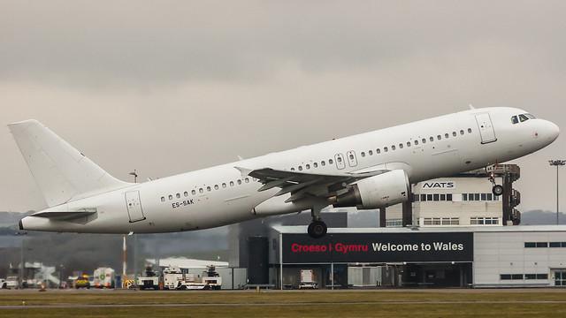 ES-SAK - Smartlynx Estonia a320 @ Cardiff Airport 170318