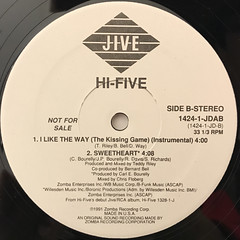 HI-FIVE:I LIKE THE WAY(THE KISSING GAME)(LABEL SIDE-B)