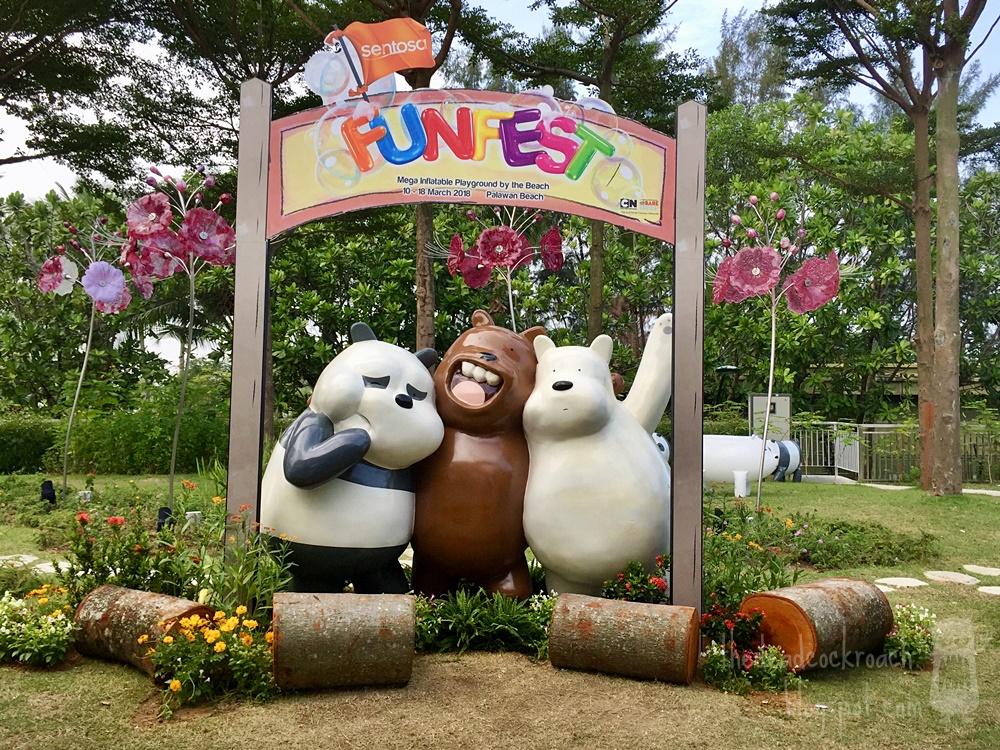 sentosa funfest 2018,sentosa,palawan beach,palawan green,singapore, where to go in singapore, we bare bears,grizzly,panda,ice bear, 咱们裸熊,圣淘沙,巴拉湾海滩,