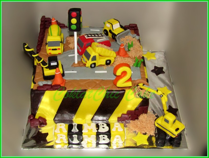 Cake Construction Site RIMBA 18 cm
