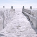 Extreme weather creates special images at Afsluitdijk by B℮n