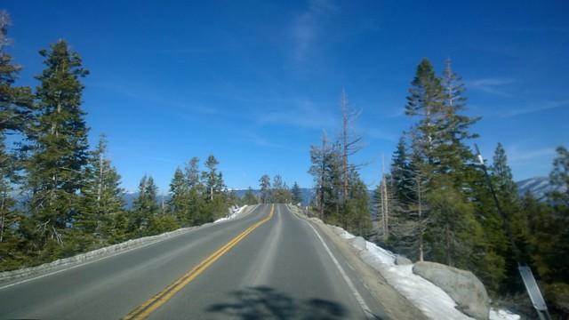 Emerald bay road between cascade lake and emerald bay
