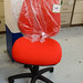 Red high back swivel chair E70