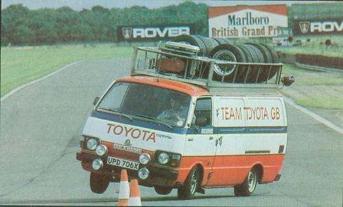 Team Toyota GB Hiace rally support van