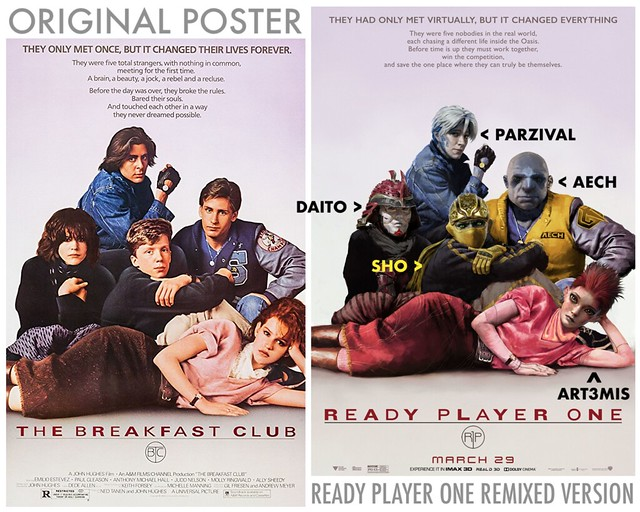 READY PLAYER ONE GUIDE TO REMIXED POSTERS