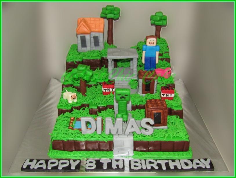 Cake Minecraft DIMAS 20 cm