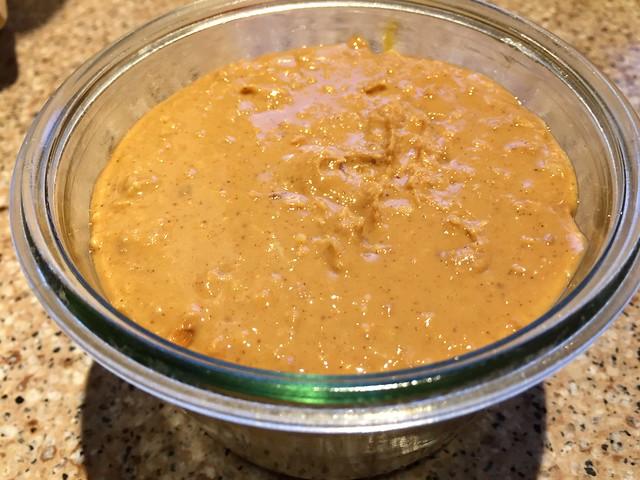 Homemade crunchy peanut butter