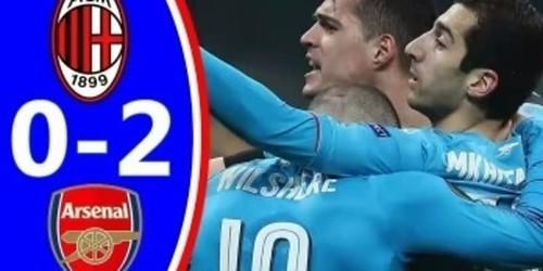 Cuplikan Gol – AC Milan 0-2 Arsenal – 08 Maret 2018 – Liga Eropa