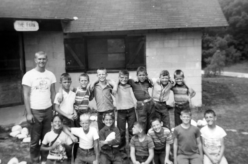 Bob as a camp counselor; Union League Boys Camp; Salem WI; summer 1962