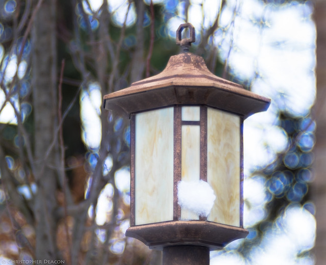 A Lamp in Winter