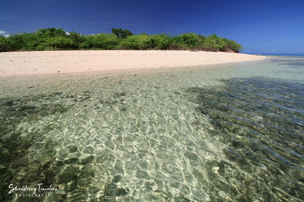 deserted section of the northeastern beach, Maniwaya Island