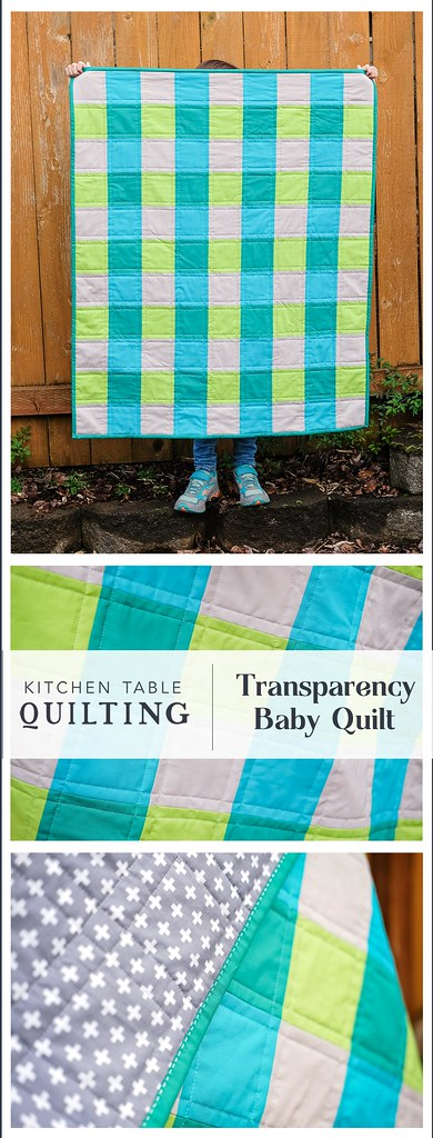 Transparency Baby Quilt - Kitchen Table Quilting