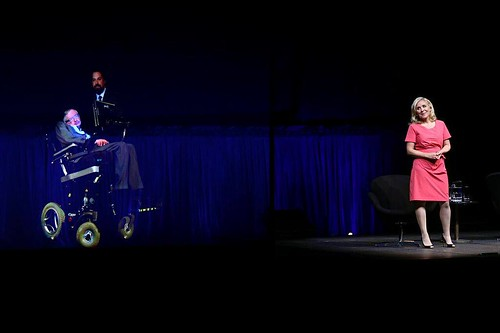 Lucy Hawking, 'with' Stephen Hawking