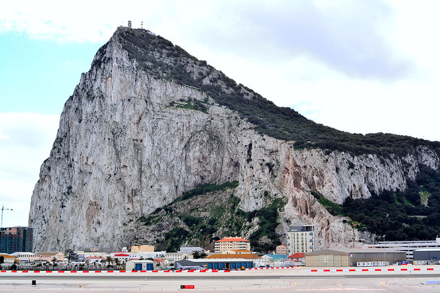 The Rock of Gibraltar, from the airport
