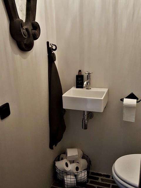 Betoncire toilet landelijke stijl