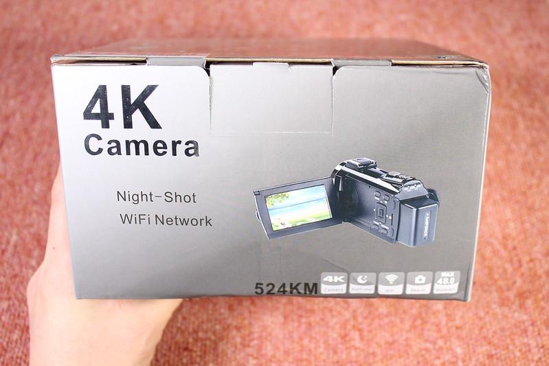 TOMTOP Andoer 4K ビデオカメラ 開封レビュー (2)