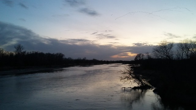 Platte River evening at Fort Kearny
