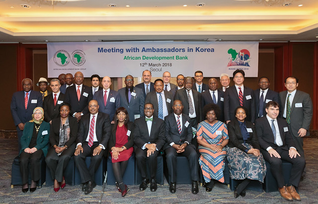 Meeting reception with Ambassador of AfDB member countries