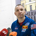 "NASA Astronaut Randy ""Komrade"" Bresnik at the America House Kyiv, March 15, 2018"