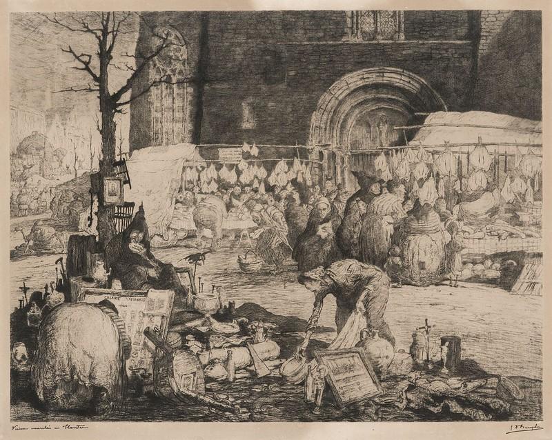 Jules De Bruycker - Old market in  Flanders, 1907