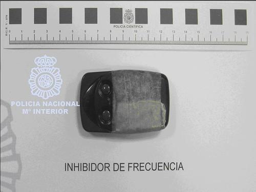 Inhibidor de frecuencia robo en el interior de vehículos