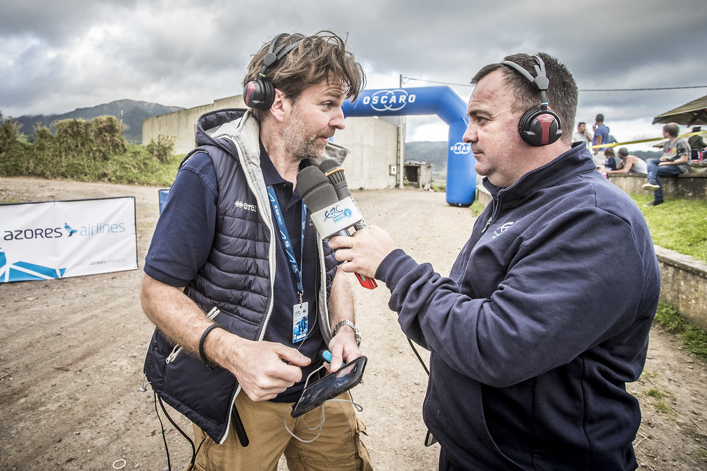 Radio ERC during the 2018 European Rally Championship ERC Azores rally,  from March 22 to 24, at Ponta Delgada Portugal - Photo Gregory Lenormand / DPPI