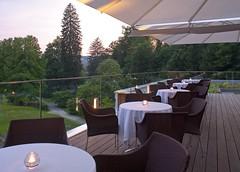 Restaurantterrasse des Kurhaus Bad Gleichenberg