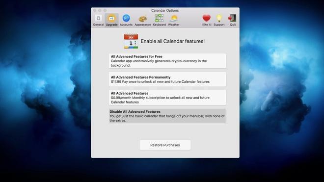 Ứng dụng Calendar 2 trên Mac kiếm được hơn 2.000 USD chỉ trong 3 ngày khai thác tiền mã hóa, Apple lần đầu tiên đưa ra cảnh báo