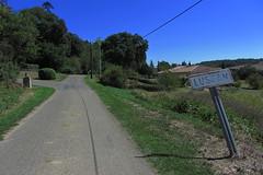 20120916 19 218 Jakobus Lussan Weg Bäume Ortsschild - Photo of L'Isle-Arné