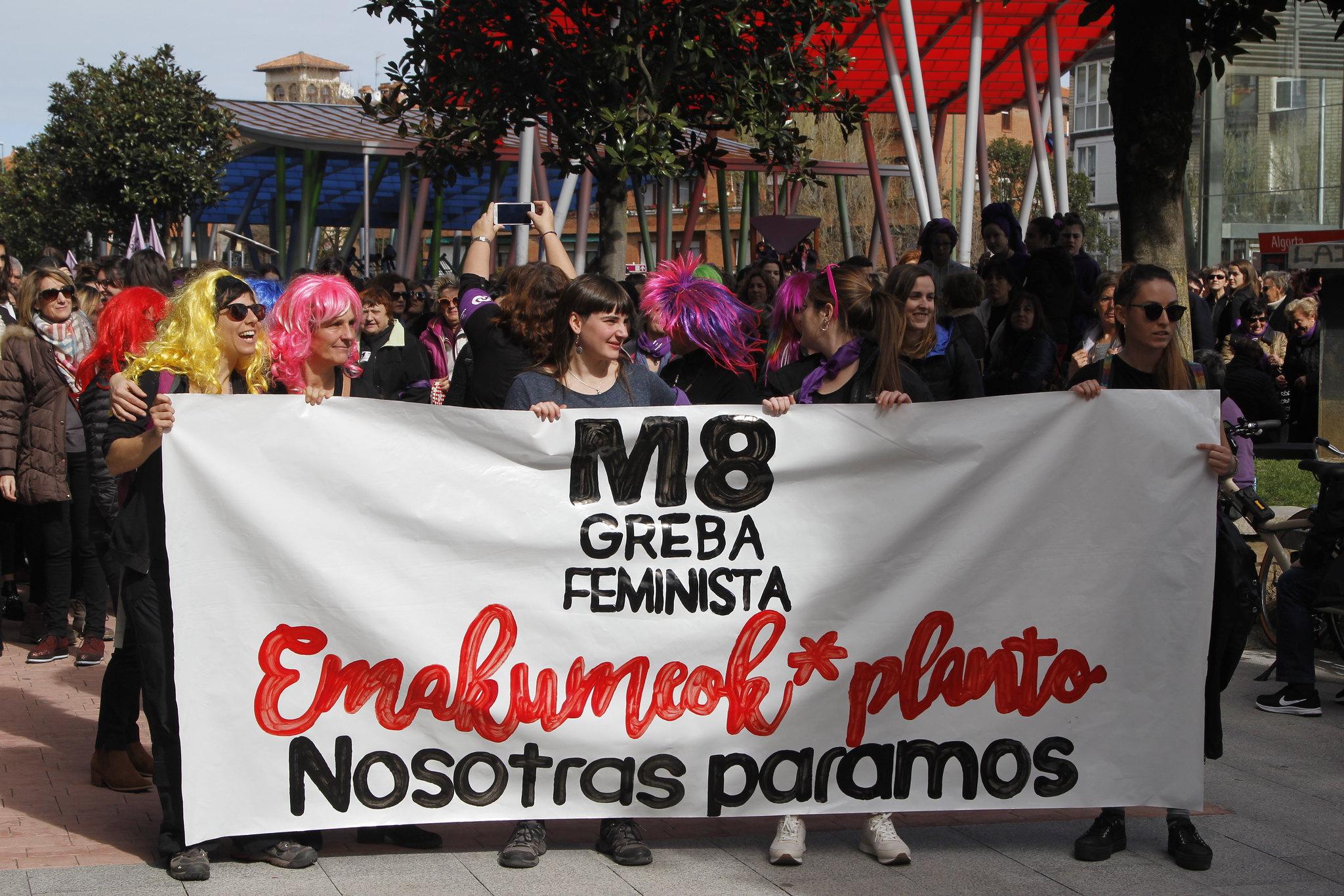 M8ko eskualdeko greba feminista