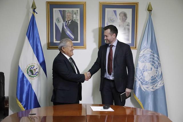 Reunión con el Coordinador Técnico de la Oficina de Naciones Unidas para la Facilitación del Diálogo Pólitico en El Salvador.