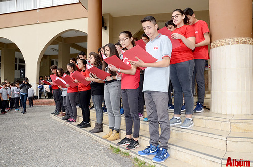 500 öğrenci flütle 'Hey onbeşliyi' söyledi-5