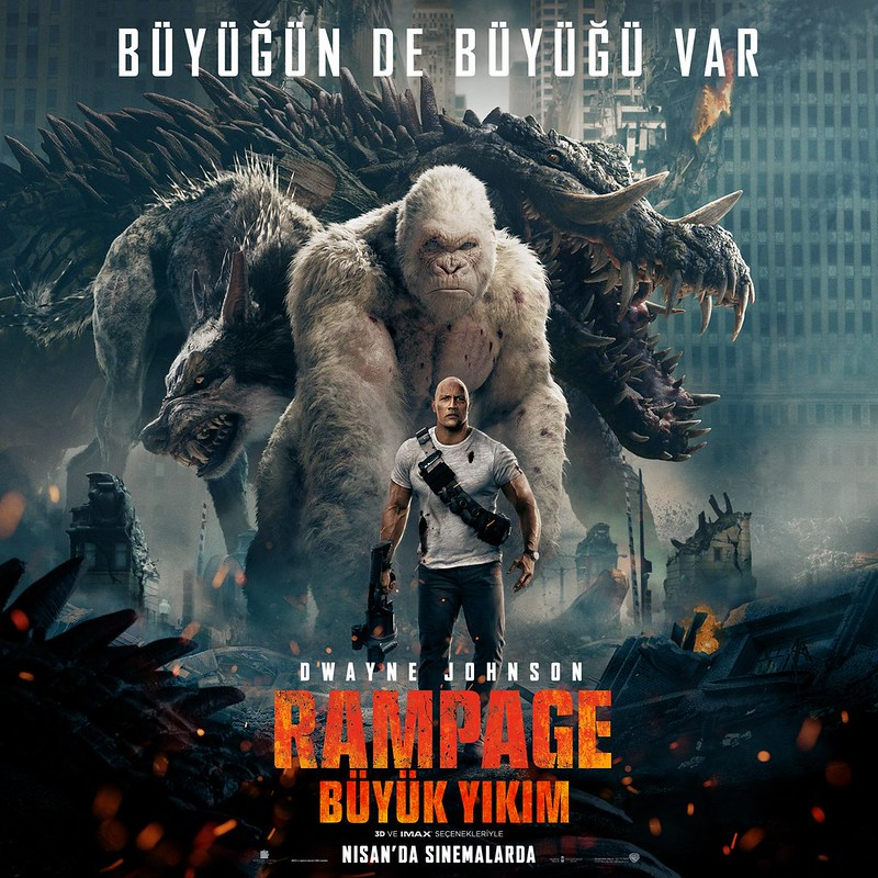 RAMPAGE POSTER DWAYNE THE ROCK JOHNSON Vietnam